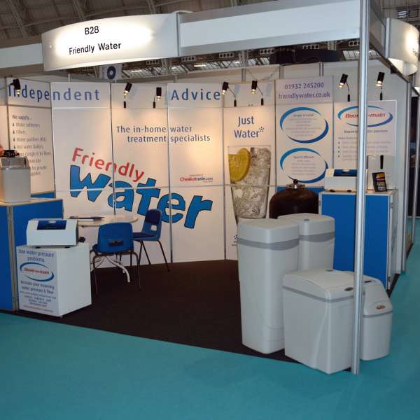 Friendly water exhibition stand